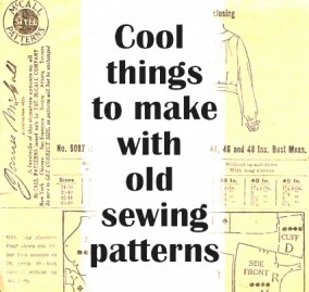 Crafts to make with old sewing pattern paper