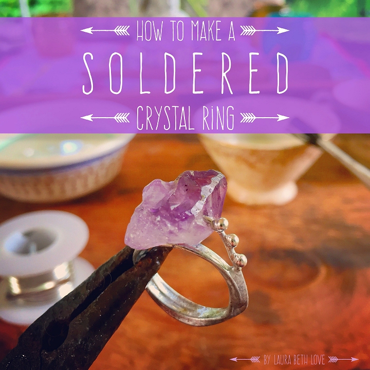 Soldered crystal point ring tutorial