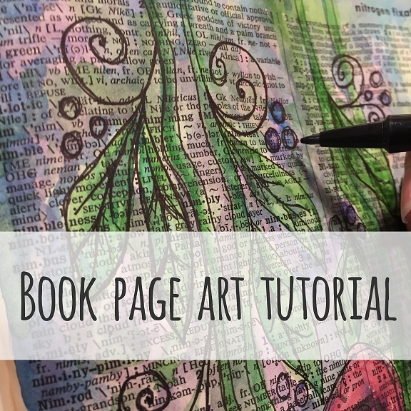 Book page art tutorial