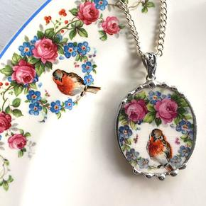 Broken china jewelry by Laura Beth Love, Emmaus PA
